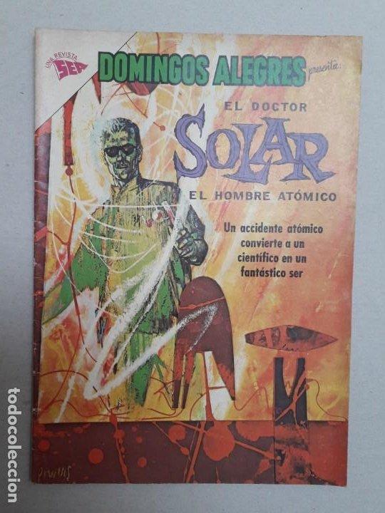 EL DOCTOR SOLAR N° 1 - DOMINGOS ALEGRES N° 492 - ORIGINAL EDITORIAL NOVARO (Tebeos y Comics - Novaro - Domingos Alegres)