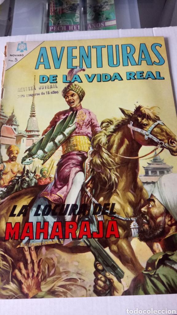 AVENTURAS DE LA VIDA REAL. LA LOCURA DEL MAHARAJA. EDITORIAL NOVARO. PVP 5 PESETAS. AÑO 1965. (Tebeos y Comics - Novaro - Aventura)