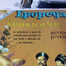 Tebeos: EPOPEYA. HISTORIA DE LA SEDA. EDITORIAL NOVARO. PVP 7 PESETAS. AÑO 1968.. Lote 184906805
