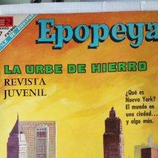 Tebeos: EPOPEYA. LA URBE DE HIERRO. EDITORIAL NOVARO. PVP 7 PESETAS. AÑO 1968.. Lote 184917281