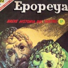 Tebeos: EPOPEYA. BREVE HISTORIA DEL TEATRO 1. EDITORIAL NOVARO. PVP 5 PESETAS. AÑO 1967.. Lote 184917590