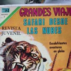 Tebeos: GRANDES VIAJES. SAFARI DESDE LAS NUBES. EDITORIAL NOVARO. PVP 7 PESETAS. AÑO 1971.. Lote 184919545
