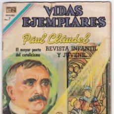 Tebeos: VIDAS EJEMPLARES - PAUL CLAUDEL - EL MAYOR POETA DEL CATOLICISMO. Lote 185988982