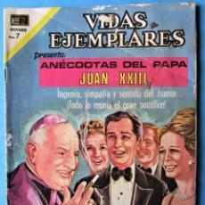 Tebeos: VIDAS EJEMPLARES Nº 349 - ANÉCDOTAS DEL PAPA JUAN XXIII - NOVARO 1971. Lote 186016807