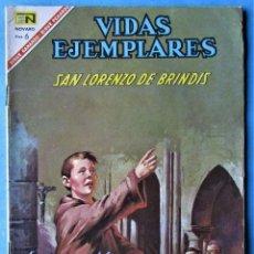 Tebeos: VIDAS EJEMPLARES Nº 244 - SAN LORENZO DE BRINDIS - NOVARO 1967 . Lote 186032925