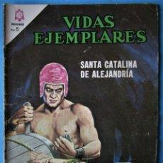 Tebeos: VIDAS EJEMPLARES Nº 216 - STA. CATALINA DE ALEJANDRÍA - NOVARO 1966. Lote 186033012