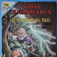 Tebeos: VIDAS EJEMPLARES Nº 266 - LOS MISIONEROS DEL NAPO - NOVARO 1968 ''BUEN ESTADO''. Lote 186033028