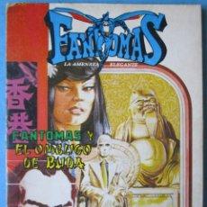 Tebeos: FANTOMAS - EL OMBLIGO DE BUDA - FANTOMAS Y EL TESORO - NOVARO 1977 LIBRO-COMIC. Lote 186033303