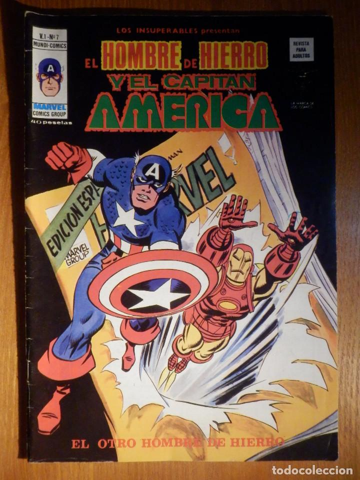 TEBEO - COMIC - EL HOMBRE DE HIERRO Y EL CAPITAN AMÉRICA - V.1 Nº 7 - EL OTRO HOMBRE DE HIERRO (Tebeos y Comics - Novaro - Batman)