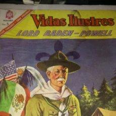 Tebeos: VIDAS ILUSTRES. LORD BADEN-POWELL, FUNDADOR DE LOS BOY SCOUTS. PVP 5 PESETAS. AÑO 1966.. Lote 186117566