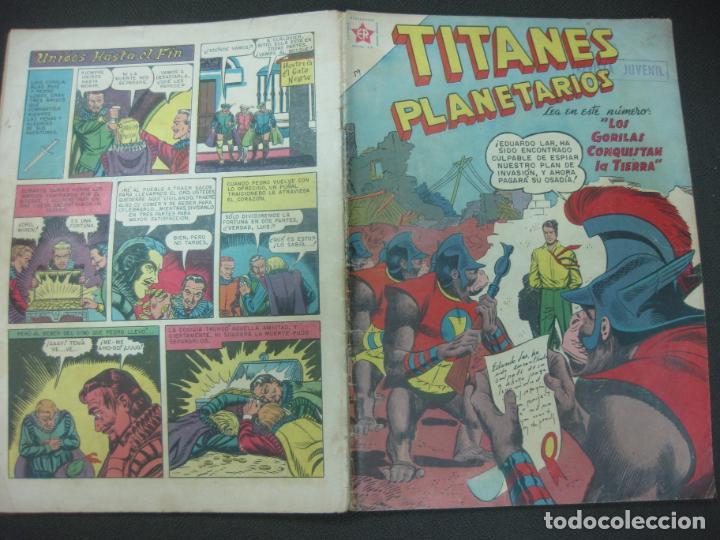 TITANES PLANETARIOS Nº 59 EDICIONES RECREATIVAS EDITORIAL NOVARO. 1 SEPTIEMBRE 1958. (Tebeos y Comics - Novaro - Otros)