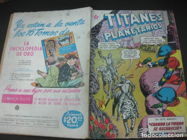 TITANES PLANETARIOS Nº 159 EDICIONES RECREATIVAS EDITORIAL NOVARO. 1 MAYO 1963. (Tebeos y Comics - Novaro - Otros)