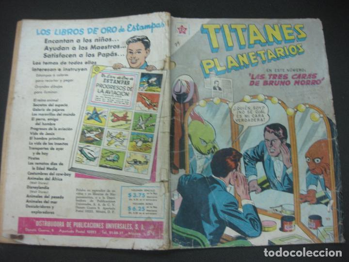 TITANES PLANETARIOS Nº 79 EDICIONES RECREATIVAS EDITORIAL NOVARO. 1 ENERO 1960. (Tebeos y Comics - Novaro - Otros)