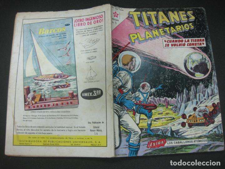 TITANES PLANETARIOS Nº 170 EDICIONES RECREATIVAS EDITORIAL NOVARO. 15 OCTUBRE 1963. (Tebeos y Comics - Novaro - Otros)
