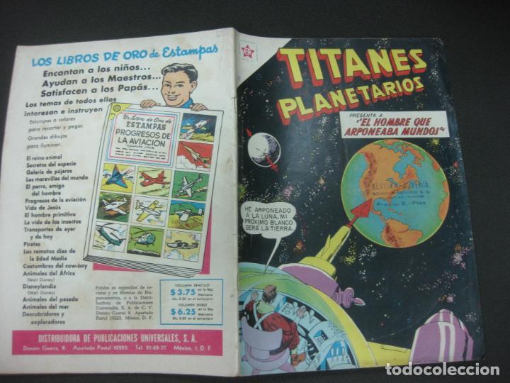 TITANES PLANETARIOS Nº 81 EDICIONES RECREATIVAS EDITORIAL NOVARO. 1 FEBRERO 1960. (Tebeos y Comics - Novaro - Otros)