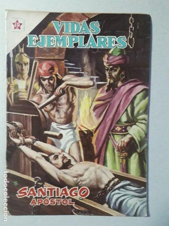 VIDAS EJEMPLARES N° 147 - SANTIAGO APÓSTOL - ORIGINAL EDITORIAL NOVARO (Tebeos y Comics - Novaro - Vidas ejemplares)