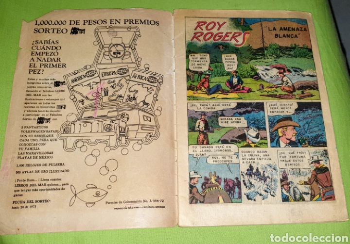 Tebeos: Comic Roy Rogers Editorial Novaro n.° 303 agosto 1973 - Foto 2 - 187412356