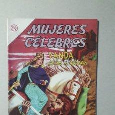 Tebeos: MUJERES CÉLEBRES N° 39 (FLAMANTE) - VANDA, REINA DE POLONIA - ORIGINAL EDITORIAL NOVARO. Lote 187414221