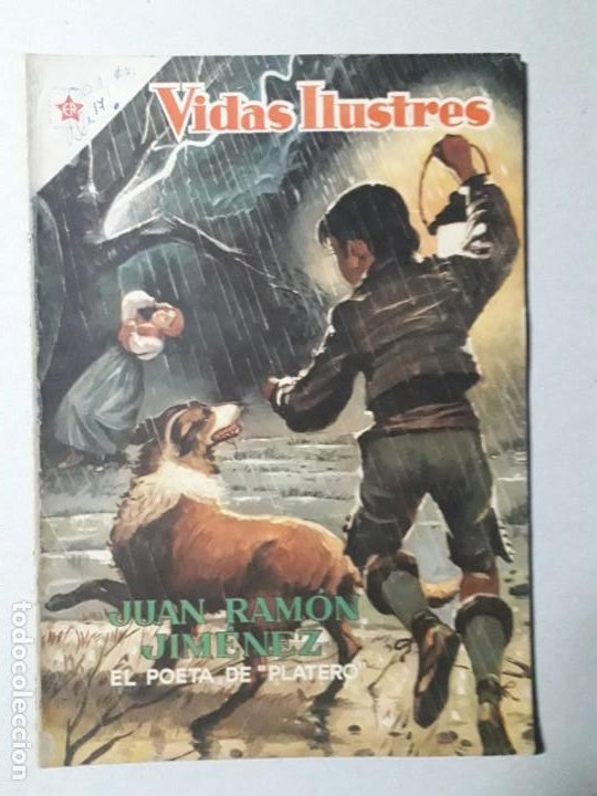 VIDAS ILUSTRES N° 17 - JUAN RAMÓN JIMÉNEZ - ORIGINAL EDITORIAL NOVARO (Tebeos y Comics - Novaro - Vidas ilustres)