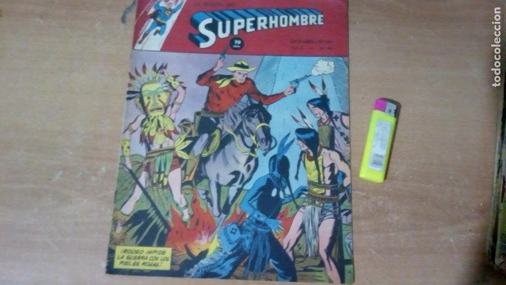 SUPERHOMBRE N.87 1951 JUAN VELOZ, FLECHA VERDE GRAN OFERTA NAVIDAD (Tebeos y Comics - Novaro - Superman)