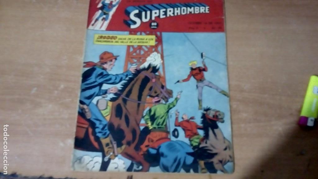 SUPERHOMBRE N.93 SUPERHEROES DC GRAN OFERTA NAVIDAD MUCHNIK 1951 DC/NOVARO (Tebeos y Comics - Novaro - Superman)
