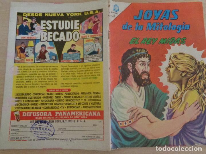 Tebeos: Joyas de la Mitología núm. 32. El Rey MIdas. Edita Novaro 1965. Buen estado - Foto 2 - 188590926