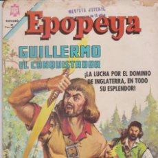 Tebeos: EPOPEYA Nº 93 GUILLERMO EL CONQUISTADOR + CLÁSICOS DE CINE Nº 294 EL TORO INFERNAL . Lote 189307688