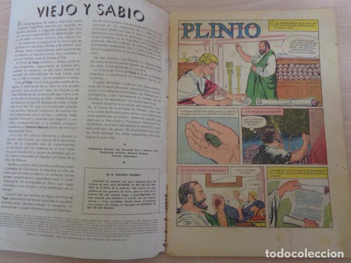 Tebeos: Vidas Ilustres Nº 103. Plinio el Viejo. Edita Novaro 1964. - Foto 4 - 189513341