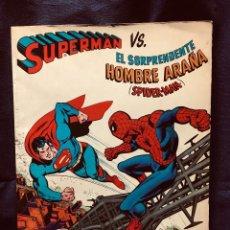 Tebeos: COMIC GIGANTE SUPERMAN VS EL SORPRENDENTE HOMBRE ARAÑA SPIDER-MAN 1ª EDICIÓN 1977 GRAN FORMATO. Lote 190127980