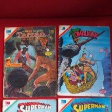 Tebeos: LOTE DE 7 REVISTAS NOVARO SUPERMAN, BATMAN, PORKY, TARZAN, TOMAJAUK. Lote 190935991