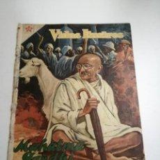 Tebeos: VIDAS ILUSTRES. MAHATMA GANDHI. AÑO III Nº 25. 1958 MÉXICO. ED.: NOVARO. POST ENCUADERNADO. . Lote 191053336