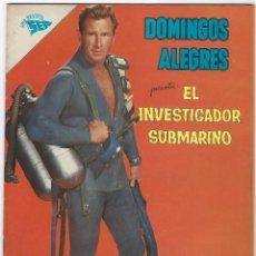 Livros de Banda Desenhada: DOMINGOS ALEGRES: EL INVESTIGADOR SUBMARINO - AÑO IX - Nº 423 - 6 DE MAYO DE 1962 **NOVARO**. Lote 191773436