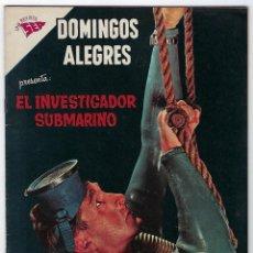 Livros de Banda Desenhada: DOMINGOS ALEGRES: EL INVESTIGADOR SUBMARINO - AÑO IX - Nº 418 - 1º DE ABRIL DE 1962 **NOVARO**. Lote 191773595