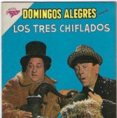 Livros de Banda Desenhada: DOMINGOS ALEGRES: LOS TRES CHIFLADOS - AÑO VIII- Nº 397 - 5 DE NOVIEMBRE DE 1961 **NOVARO**. Lote 191773755