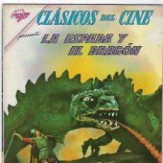 Tebeos: CLÁSICOS DEL CINE: LA ESPADA Y EL DRAGÓN - AÑO VI - Nº 66 - 1º DE MAYO DE 1962 **NOVARO**. Lote 191886867