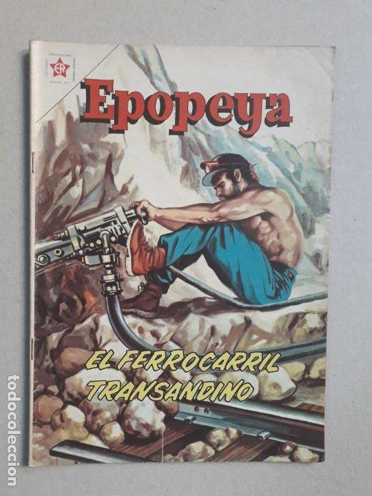 EPOPEYA N° 51 - EL FERROCARRIL TRANSANDINO - ORIGINAL EDITORIAL NOVARO (Tebeos y Comics - Novaro - Epopeya)