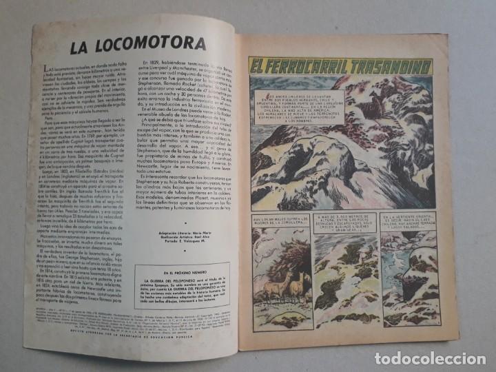 Tebeos: Epopeya n° 51 - El ferrocarril transandino - original editorial Novaro - Foto 2 - 191956041