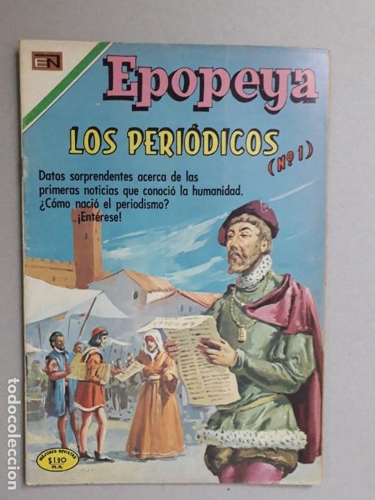 EPOPEYA N° 142 - LOS PERIÓDICOS N° 1 - ORIGINAL EDITORIAL NOVARO (Tebeos y Comics - Novaro - Epopeya)