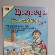 Tebeos: EPOPEYA N° 142 - LOS PERIÓDICOS N° 1 - ORIGINAL EDITORIAL NOVARO. Lote 191957355