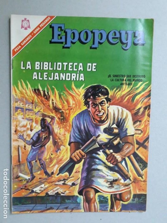 EPOPEYA N° 100 - LA BIBLIOTECA DE ALEJANDRÍA - ORIGINAL EDITORIAL NOVARO (Tebeos y Comics - Novaro - Epopeya)