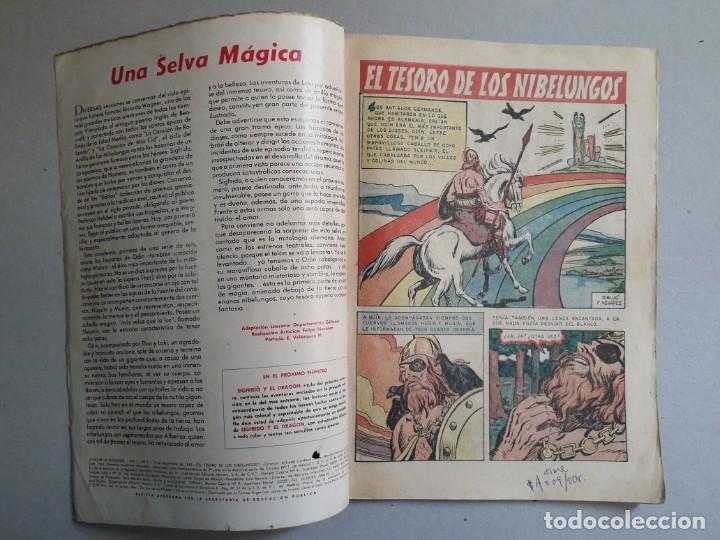 Tebeos: Joyas de la mitología n° 7 - El tesoro de los nibelungos - original editorial Novaro - Foto 2 - 192076250