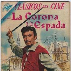 Tebeos: CLÁSICOS DEL CINE: LA CORONA Y LA ESPADA - AÑO I - Nº 7 - 1º DE JUNIO DE 1957 **NOVARO**. Lote 192135683