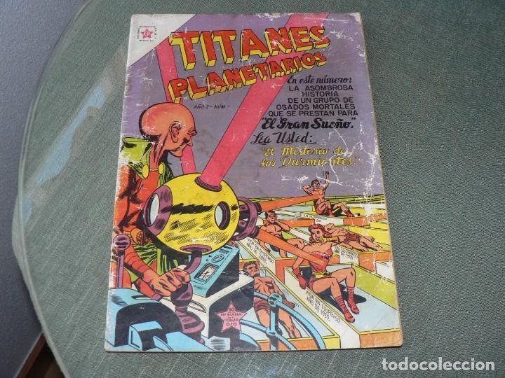 TITANES PLANETARIOS NUMERO 1 JAMAS VENDIDO (Tebeos y Comics - Novaro - Otros)
