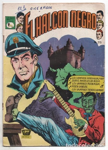 1967 EL HALCON NEGRO # 275 EL LLAMADO DEL OTRO MUNDO NOVARO LA PRENSA BUEN ESTADO (Tebeos y Comics - Novaro - Sci-Fi)