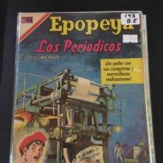 Tebeos: NOVARO EPOPEYA NUMERO 143 BUEN ESTADO. Lote 192629106