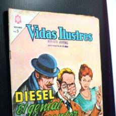 Tebeos: VIDAS ILUSTRES Nº105 ,DIESEL; EL GENIAL INVENTOR (NOVARO) AÑO 1964. Lote 192728762