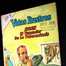 Tebeos: VIDAS ILUSTRES Nº79 ,KOCH ; EL VENCEDOR DE LA TUBERCULOSIS (NOVARO) AÑO 1962. Lote 192729037