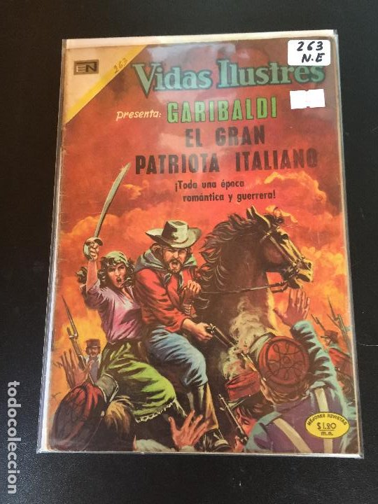 NOVARO VIDAS ILUSTRES NUMERO 263 NORMAL ESTADO (Tebeos y Comics - Novaro - Vidas ilustres)