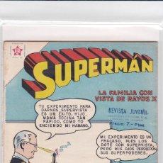 Tebeos: SUPERMAN NOVARO. NÚMERO 198. AÑO 1959. MUY BUEN ESTADO FORMÓ PARTE DE RETAPADO.. Lote 192956657