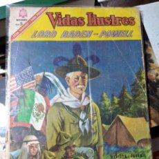 Tebeos: VIDAS ILUSTRES LORD BADEN POWELL (FUNDADOR BOY SCOUTS) - EDITORIAL NOVARO, N°147-1966.. Lote 178897015